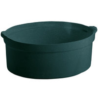 Tablecraft CW3000HGNS 3.5 Qt. Hunter Green with White Speckle Shell Casserole Dish