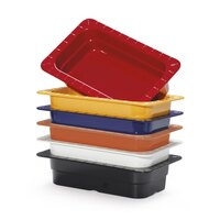 GET ML-17-BUI Assorted Colors Melamine 1/3 Size 2 1/2 inch Deep Food Pan - 6/Case