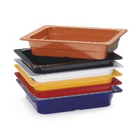 GET ML-18-BUI Assorted Colors Melamine 1/2 Size 2 1/2 inch Deep Food Pan - 6/Case
