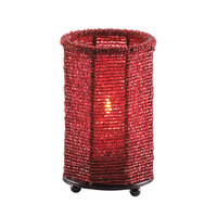 Sterno Products 80106 5 inch Red Beaded Candle Liquid Candle Holder