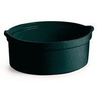 Tablecraft CW3000BKGS 3.5 Qt. Black with Green Speckle Shell Casserole Dish