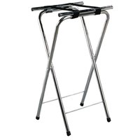 Carlisle C3625T38 36 inch Folding Chrome Tall Tray Stand
