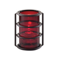 Sterno Products 85330 5 inch Plastic Red Cylinder Globe