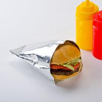 Carnival King 6 inch x 3/4 inch x 6 1/2 inch Large Foil Hamburger / Sandwich Bag - 1000/Case