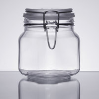 Libbey 17209925 25.25 oz. Garden Jar with Clamp Lid - 6/Case
