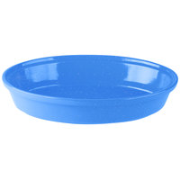 Tablecraft CW1410BS 4 Qt. Blue Speckle Cast Aluminum Oval Au Gratin