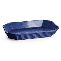 Tablecraft CW2000BS 2.5 Qt. Blue Speckle Cast Aluminum Octagon Casserole Dish