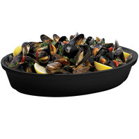 Tablecraft CW1410BK 4 Qt. Black Cast Aluminum Oval Au Gratin