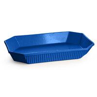 Tablecraft CW2000BL 2.5 Qt. Cobalt Blue Cast Aluminum Octagon Casserole Dish