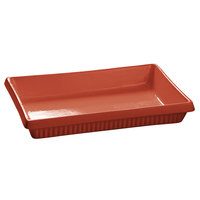 Tablecraft CW2080FCP 2 Qt. Copper Cast Aluminum Rectangular Flat Bottom Casserole Dish
