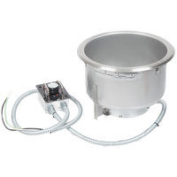 Hatco HWBH-11QTD High Wattage 11 Qt. Single Drop In Round Heated Soup Well with Drain - 120V