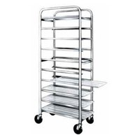 Winholt AL-1010 End Load Aluminum Platter Cart - Ten 10 inch Trays