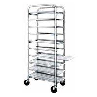 Winholt AL-1010 End Load Aluminum Platter Cart - Ten 10 inch Trays