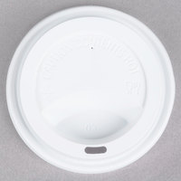 Choice 8, 10, 12, 16, and 20 oz. White Hot Paper Cup Travel Lid   - 1000/Case