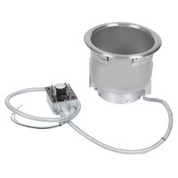 Hatco HWB-7QTD 7 Qt. Single Drop In Round Heated Soup Well with Drain - 120V