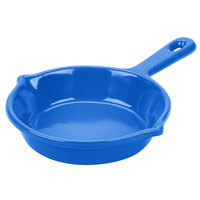 Tablecraft CW1980CBL 6 1/8 inch Cobalt Blue Cast Aluminum Fry Pan