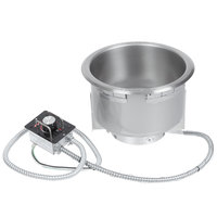 Hatco HWB-11QTD 11 Qt. Single Drop In Round Heated Soup Well with Drain - 120V