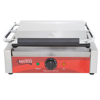 Avantco P70S Smooth Commercial Panini Sandwich Grill - 13 inch x 8 3/4 inch Cooking Surface - 120V, 1750W