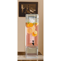 Cal Mil 1112-3 Square Beverage Dispenser 3 Gallons - with Ice Core