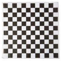 Choice 12 inch x 12 inch Black Check Deli Sandwich Wrap Paper   - 1000/Pack