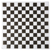 Choice 12 inch x 12 inch Black Check Deli Sandwich Wrap Paper   - 1000/Pack