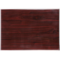 BFM Seating TTRS3060MH Resin 30 inch x 60 inch Rectangular Indoor Tabletop - Mahogany
