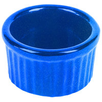 Tablecraft CW1655BS 6 oz. Blue Speckle Cast Aluminum Ramekin