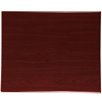BFM Seating TTRS2430MH Resin 24 inch x 30 inch Rectangular Indoor Tabletop - Mahogany