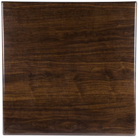 BFM Seating TTRS3636WA Resin 36 inch Square Indoor Tabletop - Walnut