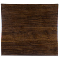 BFM Seating TTRS2430WA Resin 24 inch x 30 inch Rectangular Indoor Tabletop - Walnut