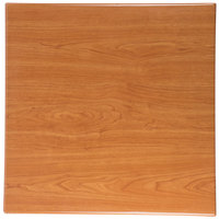 BFM Seating TTRS3030CH Resin 30 inch Square Indoor Tabletop - Cherry