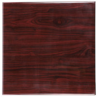 BFM Seating TTRS2424MH Resin 24 inch Square Indoor Tabletop - Mahogany