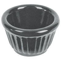 Tablecraft CW1640GR 1.2 oz. Granite Cast Aluminum Ramekin
