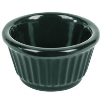Tablecraft CW1650HGN 3 oz. Hunter Green Cast Aluminum Ramekin