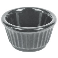 Tablecraft CW1650GR 3 oz. Granite Cast Aluminum Ramekin