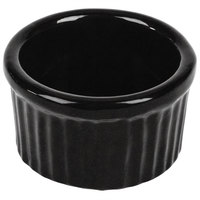Tablecraft CW1655MBS 6 oz. Midnight with Blue Speckle Cast Aluminum Ramekin