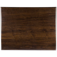 BFM Seating TTRS3042WA Resin 30 inch x 42 inch Rectangular Indoor Tabletop - Walnut