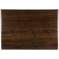 BFM Seating WARS3048 Resin 30 inch x 48 inch Rectangular Indoor Tabletop - Walnut