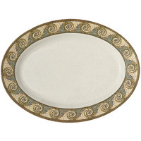 GET OP-621-MO Mosaic 21 inch x 15 inch Melamine Oval Platter - 12/Pack