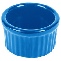 Tablecraft CW1655SBL 6 oz. Sky Blue Cast Aluminum Ramekin