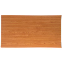 BFM Seating TTRS3060CH Resin 30 inch x 60 inch Rectangular Indoor Tabletop - Cherry