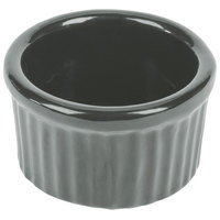 Tablecraft CW1655GY 6 oz. Gray Cast Aluminum Ramekin