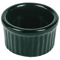 Tablecraft CW1655HGN 6 oz. Hunter Green Cast Aluminum Ramekin