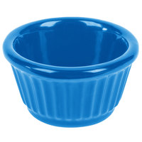Tablecraft CW1650SBL 3 oz. Sky Blue Cast Aluminum Ramekin