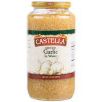 Castella 32 oz. Minced Garlic in Water - 12/Case