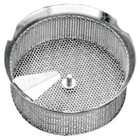Tellier P10030 1/8 inch Perforated Replacement Sieve for 15 qt. Food Mill on Stand - Tinned Steel