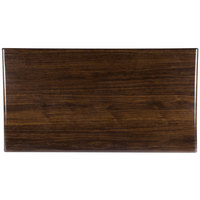 BFM Seating TTRS3060WA Resin 30 inch x 60 inch Rectangular Indoor Tabletop - Walnut