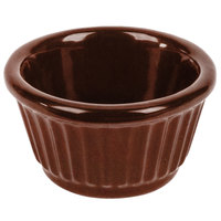 Tablecraft CW1650MAS 3 oz. Maroon Speckle Cast Aluminum Ramekin