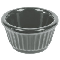 Tablecraft CW1650GY 3 oz. Gray Cast Aluminum Ramekin