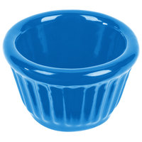 Tablecraft CW1640SBL 1.2 oz. Sky Blue Cast Aluminum Ramekin
